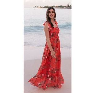 Gal Meets Glam Melody Dress NWT Coral Floral